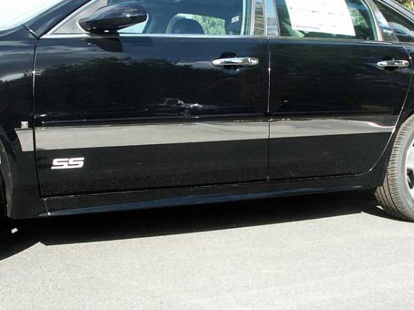 "QAA - Chevrolet Impala - Limited 2014-2016, 4-door, Sedan, Limited (6 piece Stainless Steel Rocker Panel Trim, Upper Kit 3.5"" Width Spans from the bottom of the molding DOWN to the specified width.) TH46135 QAA"