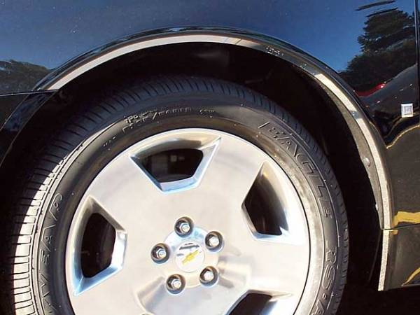 QAA - Chevrolet Impala 2006-2013, 4-door, Sedan (8 piece Stainless Steel Wheel Well Accent Trim With 3M adhesive installation and black rubber gasket edging.) WQ46135 QAA