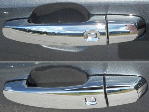 QAA - Chevrolet Impala 2014-2020, 4-door, Sedan, Does NOT fit the Limited (8 piece Chrome Plated ABS plastic Door Handle Cover Kit Includes smart key access ) DH54136 QAA