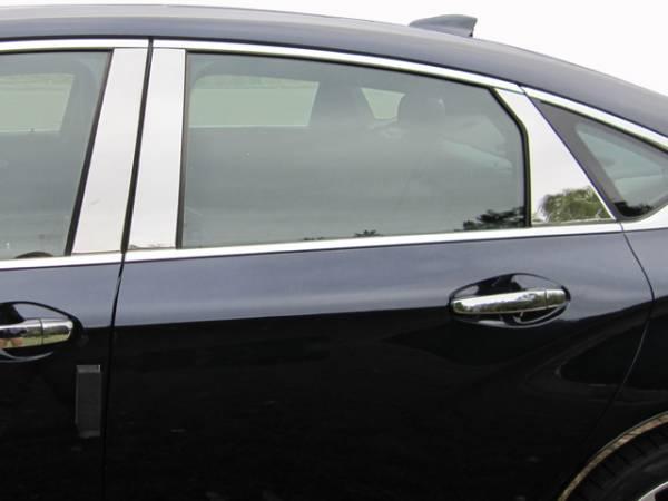 QAA - Chevrolet Impala 2014-2020, 4-door, Sedan, Does NOT fit the Limited (6 piece Stainless Steel Pillar Post Trim ) PP54136 QAA