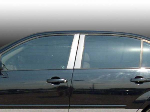 QAA - Chevrolet Malibu 2004-2007, 4-door, Sedan (4 piece Stainless Steel Pillar Post Trim ) PP44105 QAA