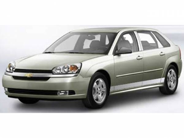 """QAA - Chevrolet Malibu Maxx 2004-2007, 4-door, LS (8 piece Stainless Steel Rocker Panel Trim, Lower Kit 3.75"""" Width Spans from the bottom of the door UP to the specified width.) TH44108 QAA"""