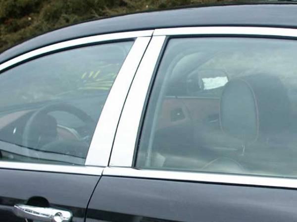 QAA - Chevrolet Malibu 2008-2012, 4-door, Sedan (4 piece Stainless Steel Pillar Post Trim ) PP48105 QAA