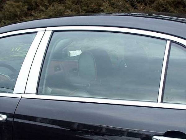 QAA - Chevrolet Malibu 2008-2012, 4-door, Sedan (6 piece Stainless Steel Pillar Post Trim ) PP48106 QAA