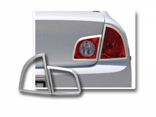 QAA - Chevrolet Malibu 2008-2012, 4-door, Sedan (4 piece Chrome Plated ABS plastic Tail Light Bezels ) TL48105 QAA
