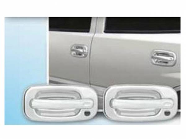 QAA - Chevrolet Silverado 1999-2005, 4-door, Pickup Truck (4 piece Chrome Plated ABS plastic Door Handle Cover Kit Does NOT include passenger key access ) DH39181 QAA