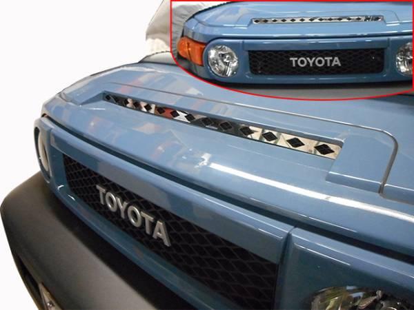 QAA - Toyota FJ Cruiser 2007-2010, 4-door, SUV (1 piece Stainless Steel Front Grille Accent Trim Upper Hood ) SG27142 QAA