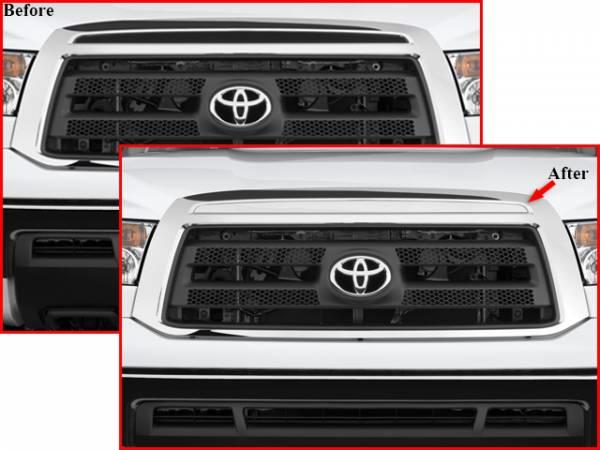 QAA - Toyota Tundra 2007-2009, 2-door, 4-door, Pickup Truck (1 piece Stainless Steel Front Grille Accent Trim Upper Insert ) SG27145 QAA