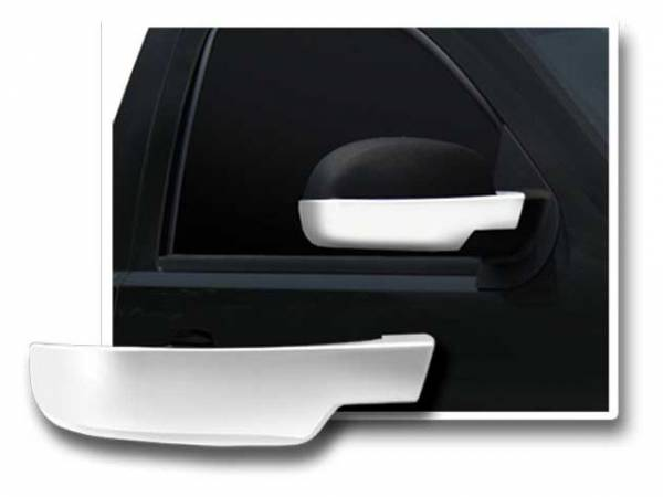 QAA - Chevrolet Silverado 2007-2013, 2-door, 4-door, Pickup Truck (2 piece Chrome Plated ABS plastic Mirror Cover Set Bottom Half Only ) MC47197 QAA