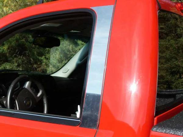 QAA - Chevrolet Silverado 2007-2013, 2-door, Pickup Truck, Regular Cab (2 piece Stainless Steel Pillar Post Trim ) PP47181 QAA