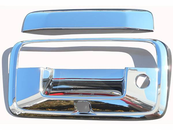 QAA - Chevrolet Silverado 2014-2018, 2-door, 4-door, Pickup Truck (3 piece Chrome Plated ABS plastic Tailgate Handle Cover Kit Includes camera access ) DH54184 QAA