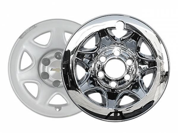 "QAA - Chevrolet Silverado 2014-2016, 2-door, 4-door, Pickup Truck (4 piece Chrome Plated ABS plastic Wheel Cover 17"" Hub Cap ) HUB54181 QAA"