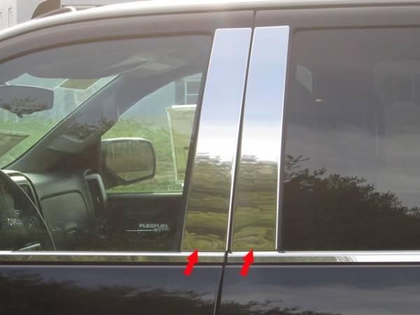 QAA - Chevrolet Silverado 2014-2018, 4-door, Pickup Truck, Crew Cab, Double Cab (4 piece Stainless Steel Pillar Post Trim ) PP54184 QAA