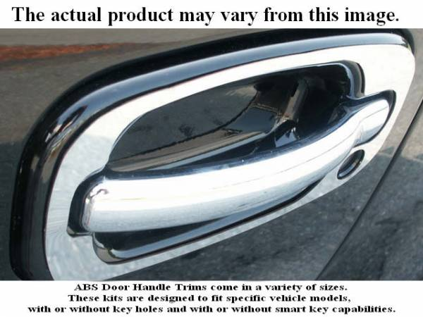 QAA - Chevrolet Suburban 1999-2006, 4-door, SUV (8 piece Chrome Plated ABS plastic Door Handle Cover Kit Includes passenger key access ) DH40197 QAA