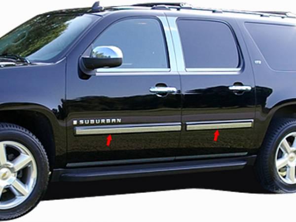 "QAA - Chevrolet Suburban 2007-2008, 4-door, SUV (6 piece Stainless Steel Rocker Panel Trim, Insert Kit 2.187"" Width Side Molding.) TH47198 QAA"