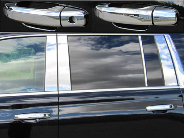 QAA - Chevrolet Suburban 2015-2020, 4-door, SUV (8 piece Chrome Plated ABS plastic Door Handle Cover Kit Does NOT include passenger key access ) DH54195 QAA