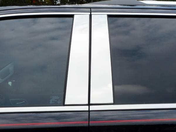 QAA - Chevrolet Suburban 2015-2020, 4-door, SUV (4 piece Stainless Steel Pillar Post Trim ) PP55195 QAA