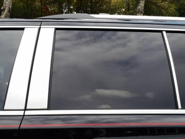 QAA - Chevrolet Suburban 2015-2020, 4-door, SUV (6 piece Stainless Steel Pillar Post Trim ) PP55196 QAA