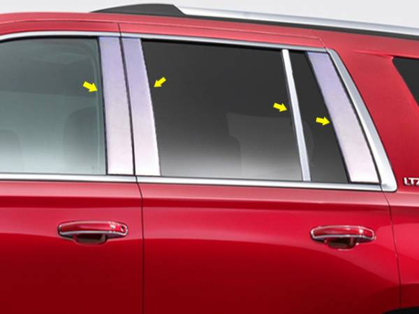 QAA - Chevrolet Tahoe 2015-2020, 4-door, SUV (8 piece Stainless Steel Pillar Post Trim ) PP55197 QAA