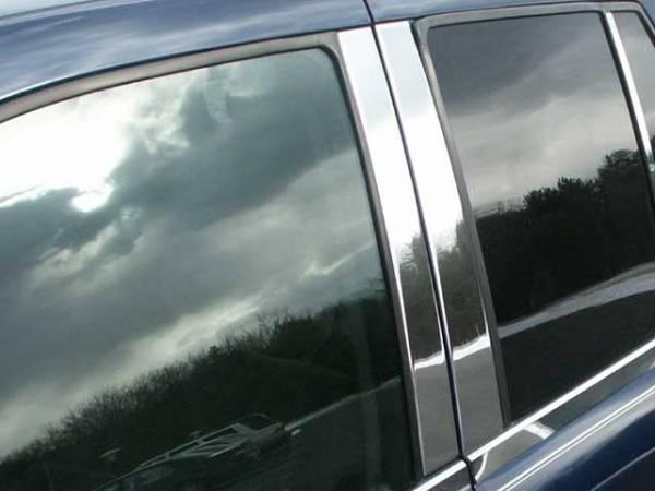 QAA - Chevrolet Trailblazer 2002-2009, 4-door, SUV (4 piece Stainless Steel Pillar Post Trim ) PP42293 QAA