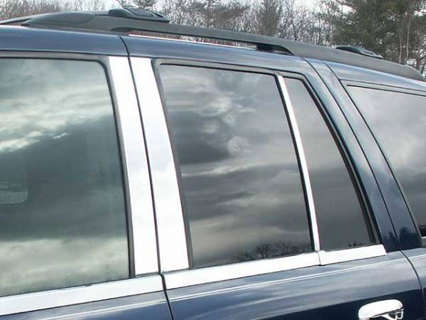 QAA - Chevrolet Trailblazer 2002-2009, 4-door, SUV, does NOT fit XL (6 piece Stainless Steel Pillar Post Trim ) PP42294 QAA