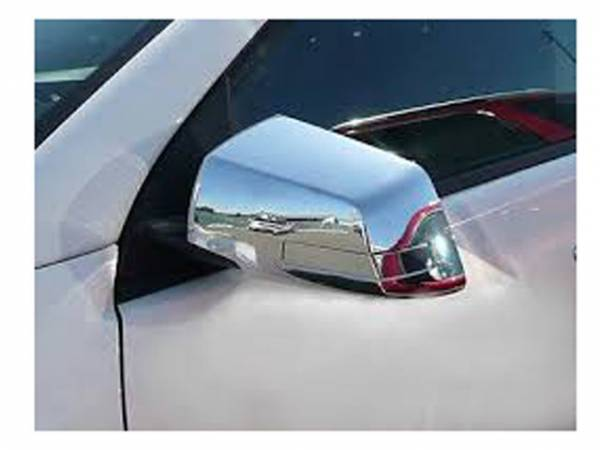 QAA - Chevrolet Traverse 2009-2017, 4-door, SUV (4 piece Chrome Plated ABS plastic Mirror Cover Set Full, Hybrid kit, Includes a removable piece that accomodates the Cut Out for the Turn Signal Light upon assembly when applicable. ) MC49165 QAA