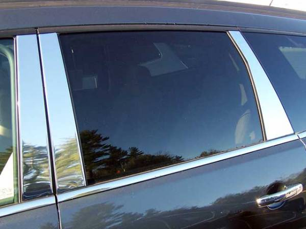 QAA - Chevrolet Traverse 2009-2017, 4-door, SUV (6 piece Stainless Steel Pillar Post Trim ) PP49166 QAA