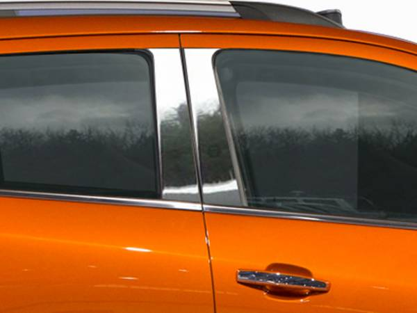 QAA - Chevrolet Trax 2015-2020, 4-door, SUV (4 piece Stainless Steel Pillar Post Trim ) PP55155 QAA