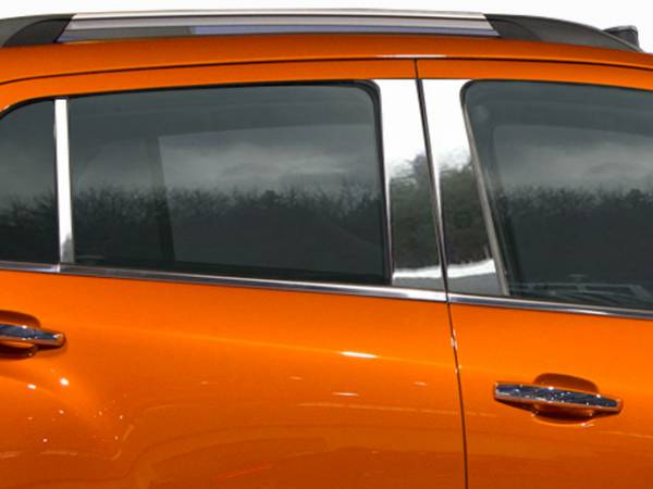 QAA - Chevrolet Trax 2015-2020, 4-door, SUV (6 piece Stainless Steel Pillar Post Trim ) PP55156 QAA