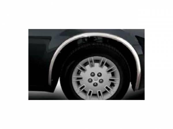 QAA - Chrysler 300 2005-2010, 4-door, Sedan (4 piece Molded Stainless Steel Wheel Well Fender Trim Molding Clip on or screw in installation, Lock Tab and screws, hardware included.) WZ45766 QAA