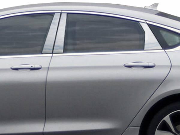 QAA - Chrysler 200 2015-2017, 4-door, Sedan (6 piece Stainless Steel Pillar Post Trim ) PP55781 QAA