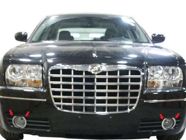 QAA - Chrysler 300 2005-2008, 4-door, Sedan (4 piece Stainless Steel Fog Light Trim ) FV45760 QAA