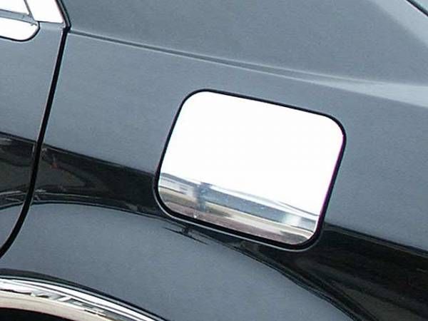 QAA - Chrysler 300 2005-2010, 4-door, Sedan (1 piece Stainless Steel Gas Door Cover Trim Warning: This is NOT a replacement cap. You MUST have existing gas door to install this piece ) GC45760 QAA