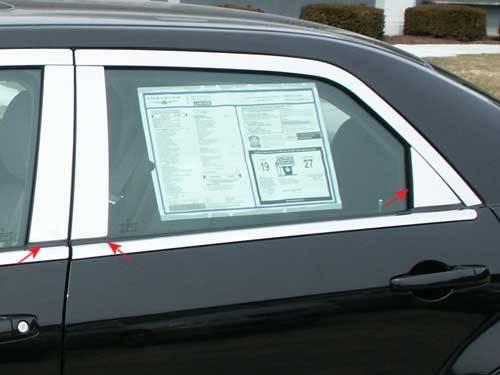 QAA - Chrysler 300 2005-2010, 4-door, Sedan (6 piece Stainless Steel Pillar Post Trim ) PP45761 QAA