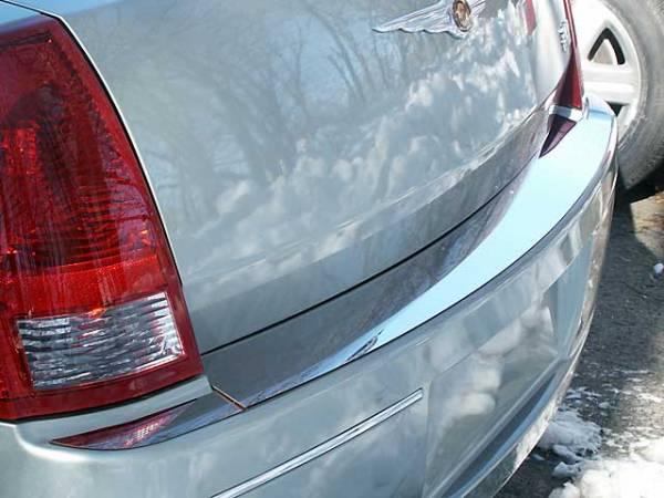QAA - Chrysler 300 2005-2010, 4-door, Sedan, Base Model ONLY (3 piece Stainless Steel Rear Bumper Trim Accent ) RB45760 QAA