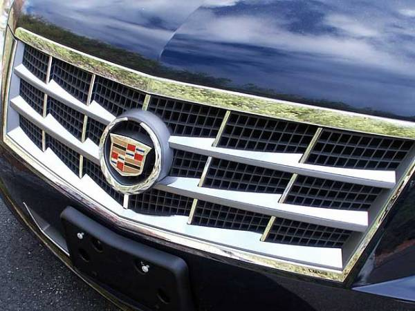 QAA - Cadillac STS 2008-2011, 4-door, Sedan (6 piece Stainless Steel Front Grille Accent Trim Insert Package ) SG45236 QAA