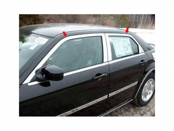 QAA - Chrysler 300 2005-2010, 4-door, Sedan, C-Model ONLY (4 piece Stainless Steel Window Trim Package Includes Upper Trim only, NO Pillar Posts, NO window sills. ) WP45767 QAA