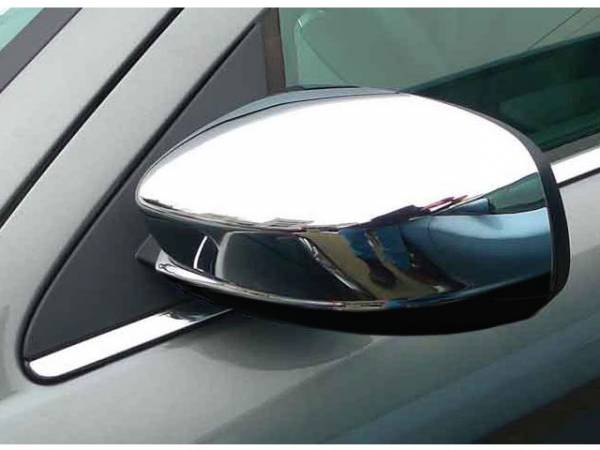 QAA - Dodge Charger 2011-2020, 4-door, Sedan (2 piece Chrome Plated ABS plastic Mirror Cover Set Top Half Only Does not fit vehicles with a side maker light.) MC51760 QAA