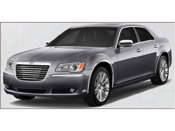 QAA - Chrysler 300 2011-2020, 4-door, Sedan (4 piece Molded Stainless Steel Wheel Well Fender Trim Molding WILL COVER MARKER LIGHTS Clip on or screw in installation, Lock Tab and screws, hardware included.) WZ51765 QAA
