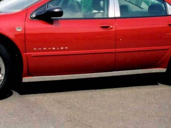 """QAA - Chrysler 300M 1999-2004, 4-door, Sedan (4 piece Stainless Steel Rocker Panel Trim, On the rocker 2.25"""" Width Installs below the door.) TH39760 QAA"""