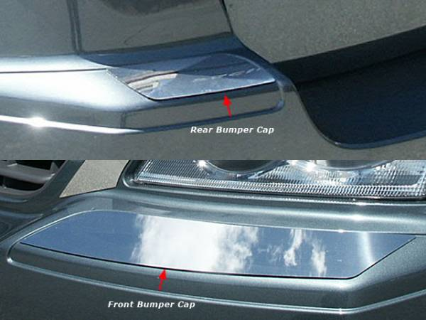 QAA - Chrysler Pacifica 2004-2006, 4-door, SUV (4 piece Stainless Steel Bumper Cap Trim Accent Front and Rear ) BC44750 QAA