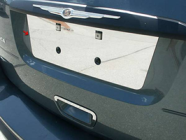 QAA - Chrysler Pacifica 2004-2008, 4-door, SUV (1 piece Stainless Steel License Plate Bezel ) LP44750 QAA