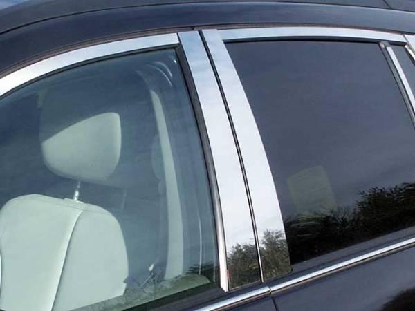 QAA - Chrysler Pacifica 2004-2008, 4-door, SUV (4 piece Stainless Steel Pillar Post Trim ) PP44750 QAA