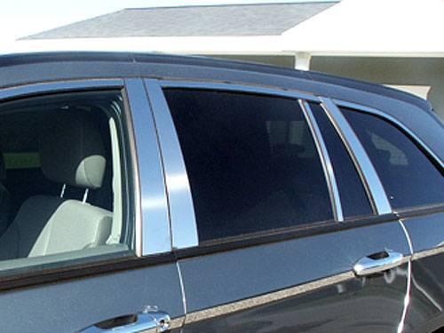 QAA - Chrysler Pacifica 2004-2008, 4-door, SUV (8 piece Stainless Steel Pillar Post Trim ) PP44751 QAA