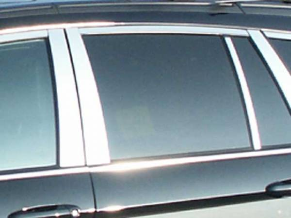 QAA - Chrysler Pacifica 2004-2008, 4-door, SUV (6 piece Stainless Steel Pillar Post Trim ) PP44752 QAA