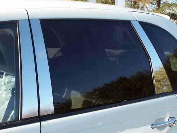 QAA - Chrysler PT Cruiser 2003-2010, 4-door, Hatchback (6 piece Stainless Steel Pillar Post Trim ) PP43701 QAA