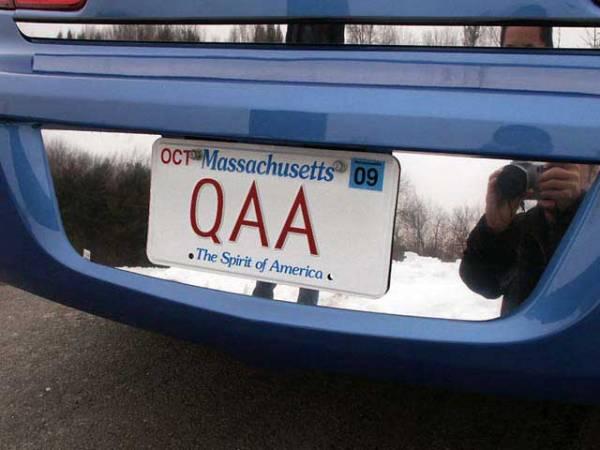QAA - Chrysler Sebring 2007-2010, 4-door, Sedan (1 piece Stainless Steel License Plate Bezel ) LP47780 QAA