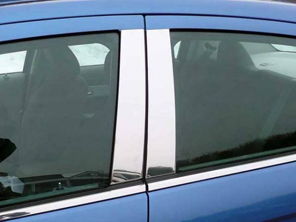 QAA - Chrysler Sebring 2007-2010, 4-door, Sedan (4 piece Stainless Steel Pillar Post Trim ) PP47780 QAA