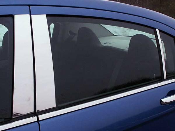 QAA - Chrysler Sebring 2007-2010, 4-door, Sedan (6 piece Stainless Steel Pillar Post Trim ) PP47781 QAA
