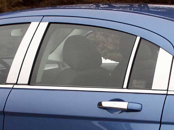 QAA - Chrysler Sebring 2007-2010, 4-door, Sedan (8 piece Stainless Steel Pillar Post Trim ) PP47782 QAA